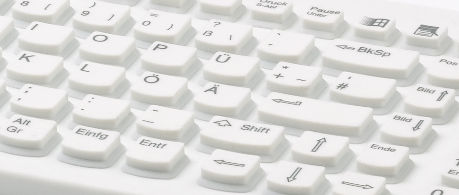 Hygiene Tastatur - Ergonomische Tasten