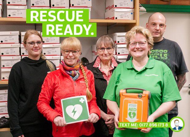 AED Defi Defibriallator für den Mittelstand Krefeld hillus